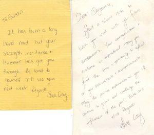 Letters Sue Craig